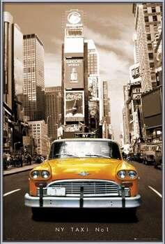 Poster emoldurado New York taxi no. 1