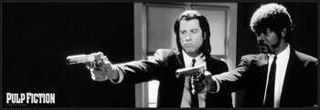 Poster emoldurado Pulp Fiction - b&w guns