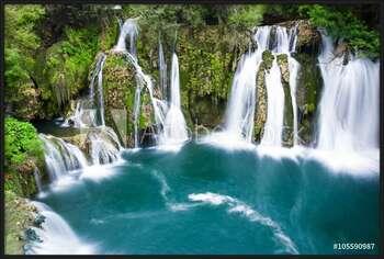 Poster emoldurado  Waterfalls of Martin Brod on Una national park, Bosnia and Herzegovina