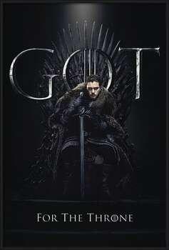 Poster emoldurado  Game of Thrones - Jon For The Throne