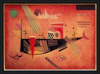 Poster emoldurado  Wassily Kandinsky - Whimsical