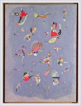 Poster emoldurado  Wassily Kandinsky - Sky Blue