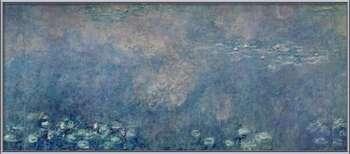 Poster emoldurado  Waterlilies - Two Weeping Willows