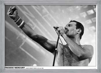 Pôster emoldurado Freddie Mercury - Wembley 1984
