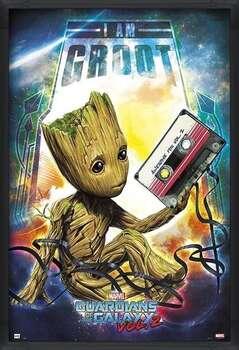 Pôster emoldurado Guardians Of The Galaxy Vol 2 - Groot
