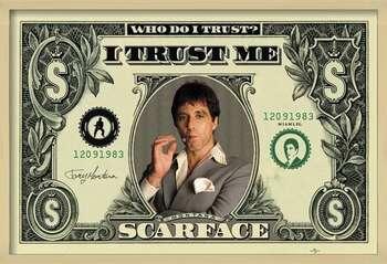 Pôster emoldurado SCARFACE - dollar
