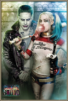 Pôster emoldurado Suicide Squad - Joker and Harley Quinn