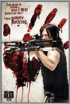 Pôster emoldurado Walking Dead - Bloody Hand Daryl
