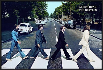 Pôster emoldurado Beatles - abbey road