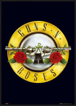 Pôster emoldurado Guns'n'Roses - logo