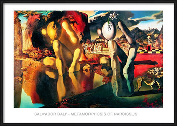 Pôster emoldurado Salvador Dali - Metamorphosis Of Narcissus