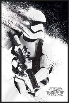 Pôster emoldurado Star Wars Episode VII: The Force Awakens - Stormtrooper Paint