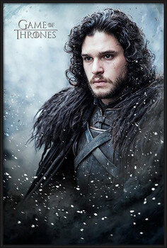 Pôster emoldurado Game of Thrones - Jon Snow