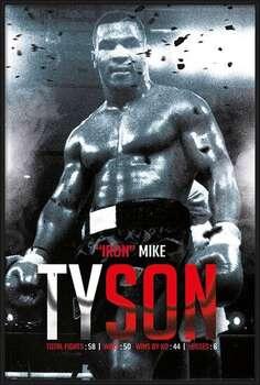 Pôster emoldurado Mike Tyson - Boxing Record