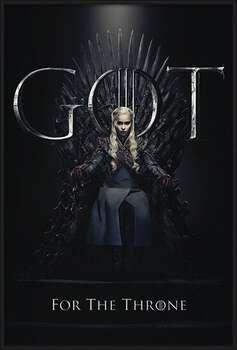 Pôster emoldurado Game Of Thrones - Daenerys For The Throne