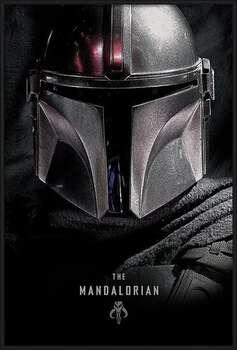 Pôster emoldurado Star Wars: The Mandalorian - Dark