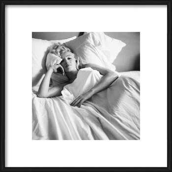 Pôster emoldurado Marilyn Monroe - Bed