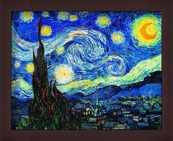 Pôster emoldurado The Starry Night, June 1889