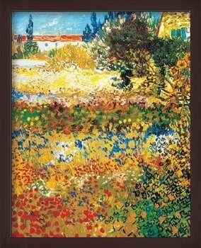 Pôster emoldurado Flowering garden, 1898