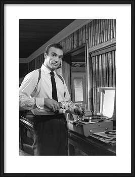 Pôster emoldurado James Bond 007 - Retro style