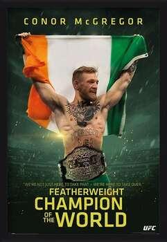 Pôster emoldurado Conor McGregor - Featherweight Champion
