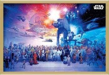 Pôster emoldurado Star Wars - Universe