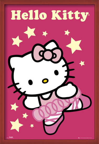 Poster  HELLO KITTY - ballerina