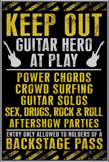 Poster Keep out - guitar hero