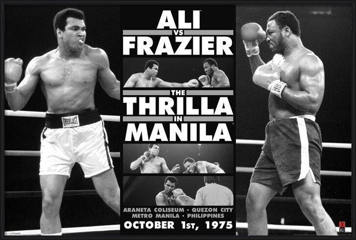 Poster Muhammad Ali - thrilla in manila b/w