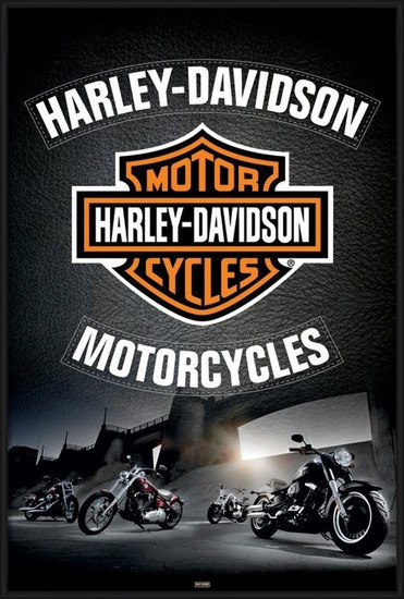 Poster Harley Davidson - leather
