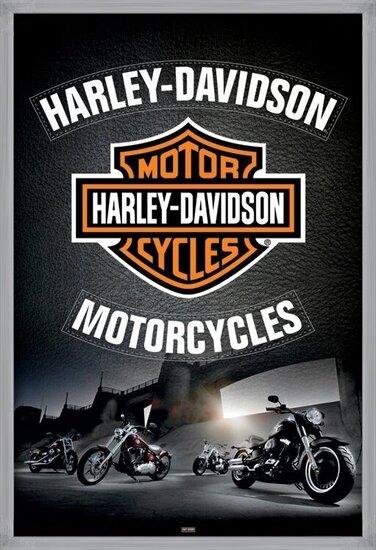 Poster Harley Davidson - leather