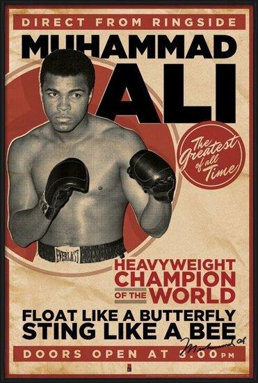 Poster  Muhammad Ali - vintage