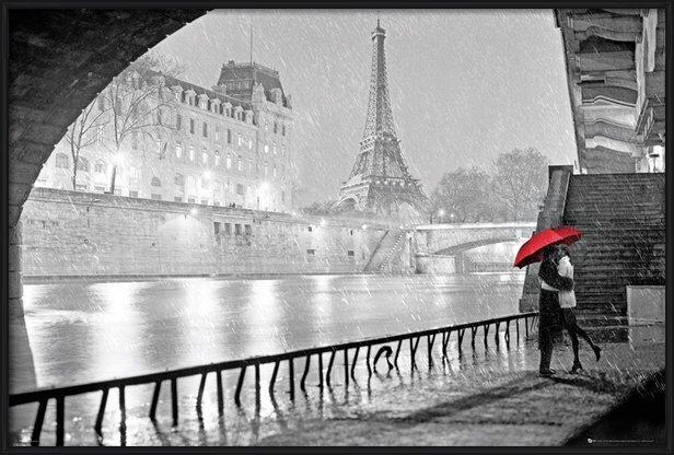 Poster  Paris - Eiffel tower kiss
