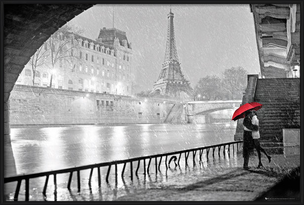 Poster  Paris - Eiffel tower kiss