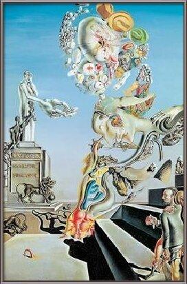 Reprodução do quadro The Lugubrious Game, 1929