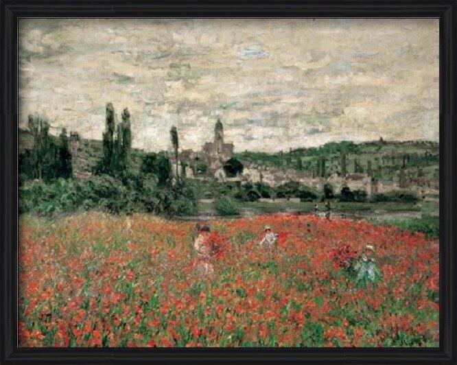 Reprodução do quadro  Poppy Field Near Vetheuil