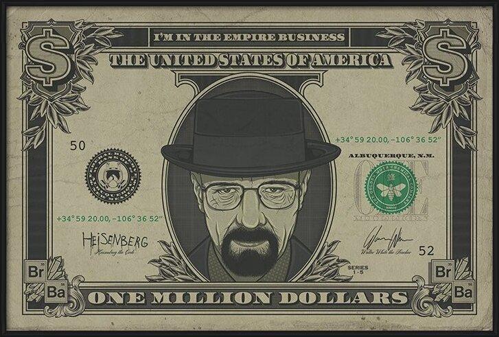 Poster  Breaking Bad - Heisenberg Dollar
