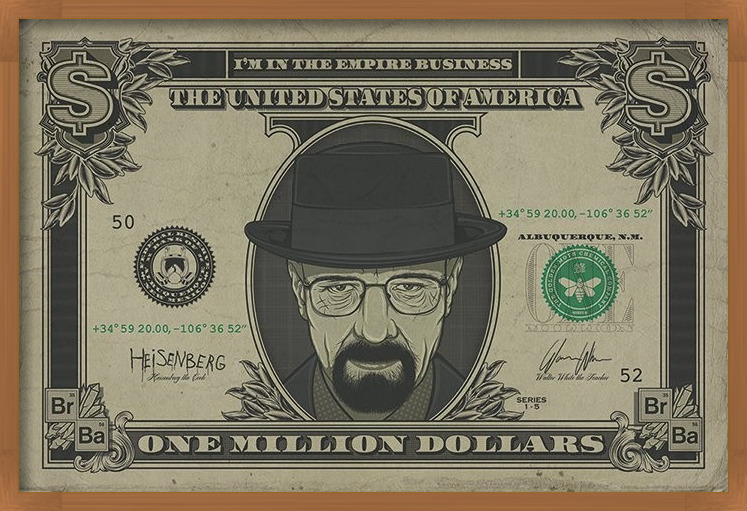 Poster  Breaking Bad - Heisenberg Dollar