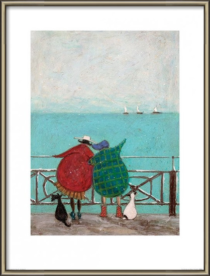 Reprodução do quadro  Sam Toft - We Saw Three Ships Come Sailing By