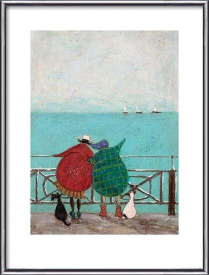 Reprodução do quadro Sam Toft - We Saw Three Ships Come Sailing By