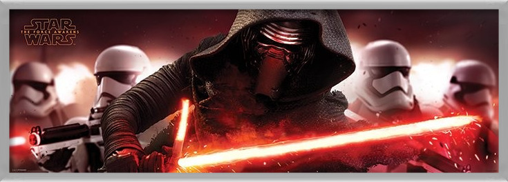 Poster  Star Wars Episode VII: The Force Awakens - Kylo Ren & Stormtroopers