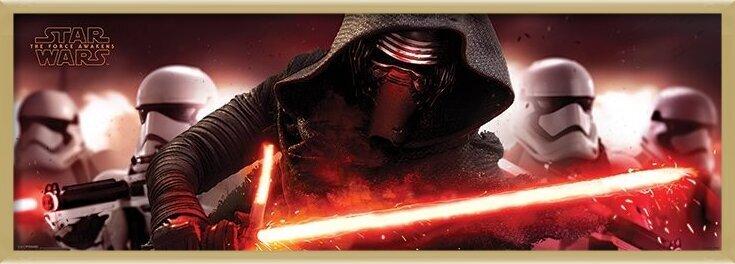 Poster Star Wars Episode VII: The Force Awakens - Kylo Ren & Stormtroopers