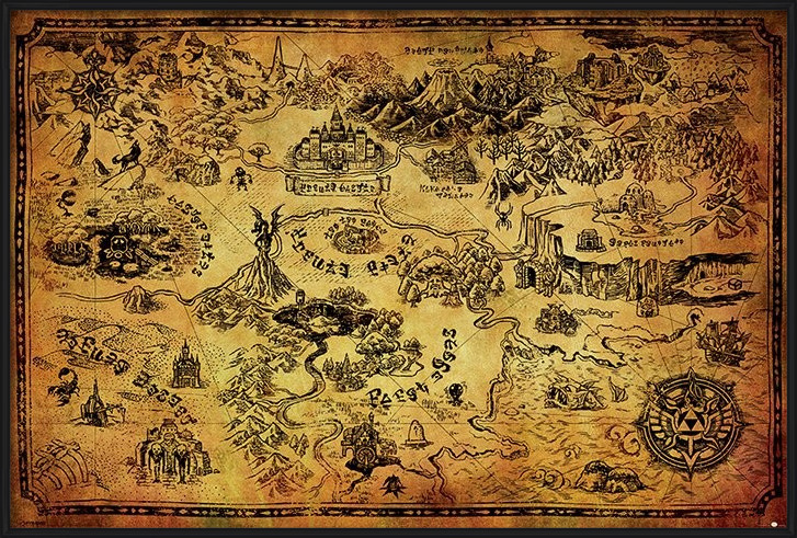 Poster  The Legend Of Zelda - Hyrule Map