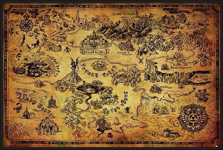 Poster  The Legend Of Zelda - Hyrule Map