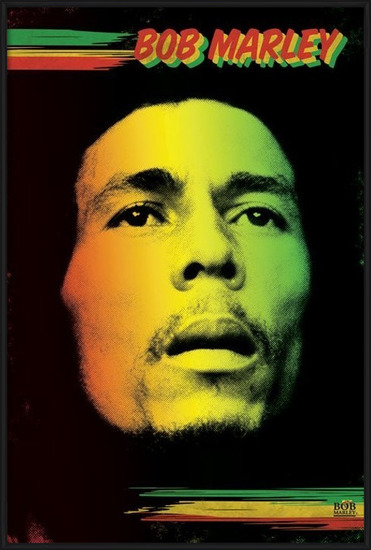 Poster Bob Marley - face