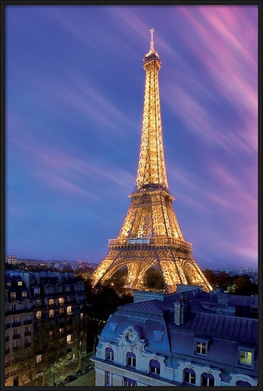 Poster  Eiffel tower - at dusk