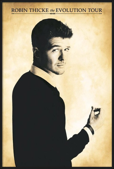 Poster  Robin Thicke - evolution tour