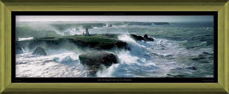 Reprodução do quadro Avis de coup de vent sur les Poulains