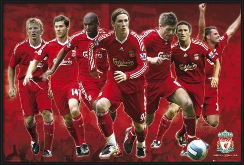 Poster  Liverpool - Players 08/09