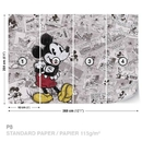 Disney Mickey Mouse Newsprint Vintage